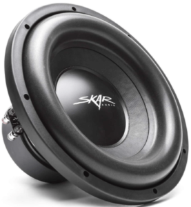 This is an image of the Skar Audio SDR-12 12-inch car Subwoofer-black