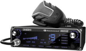 This is an image the Uniden BEARCAT 980 CB Radio with black transceiver for Truck Drivers