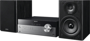 This is an image of the Sony CMTSBT100 stereo system with Bluetooth -black