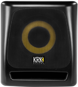 This is an image of a black KRK 8S2 V2 8-inch Powered Studio Subwoofer