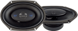 This is an image of the JBlaupunkt 6 x 8-Inch 4-Way Coaxial Car Audio 2 Speakers- black