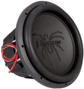 close up view of the Soundstream Tarantula T5 Series subwoofer-12 inch in black color
