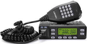 close up image of the LEIXEN LX VV-898 Mobile Ham Radio- black color