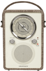 This is an image of a gray Crosley CR3034A-HA Am/FM/Bluetooth Radio