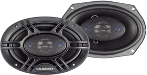 This is an image of the Blaupunkt 6 x 9-Inch coaxial car speaker, Set of 2 in black color