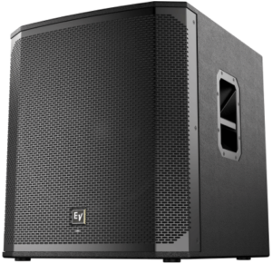 image of the Electro-Voice ELX200-18SP 18-inch Powered Subwoofer in black color