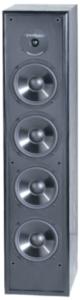 close up image of the BIC America Venturi DV64 Tower Speaker, Black