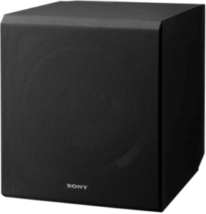 close up image of the Sony SACS9 10-Inch Subwoofer-Black