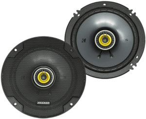 This is an image of the KICKER CSC65 CS 2-Way Car Audio Coaxial Speakers- black
