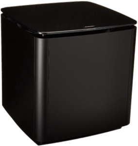 This is an image of a black Bose Bass Module 700 wireles subwoofer
