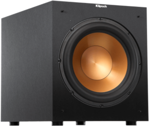 This is an image of a black Klipsch R-12SW Subwoofer-12inch