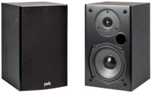 image of teo black Polk Audio T15 Bookshelf Speakers