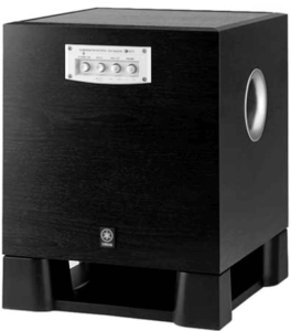 close up view of the YAMAHA SW315 Subwoofer System - Black Ash