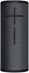 close-up view of the Ultimate Ears Boom 3 Bluetooth Speaker in black color