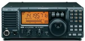 image of a Icom IC-718 Mobile Ham Radio radio in black