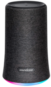 close up view of the Anker Soundcore Flare Wireless Speaker- black