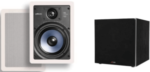 image of the Polk Audio RC65i, 10 inch Powered Subwoofer in black color