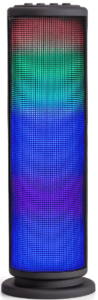 image of the Riptunes Mini Tower Wireless Speake with Colorful Lights