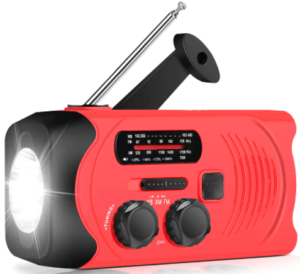 image of the RunningSnail Emergency Weather AM/FM portable radio- Red