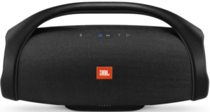 This is an image of the black JBL Boombox Portable Waterproof bluetooth Speaker