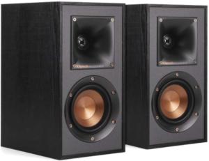 close up image of the Klipsch R-41M Home Speaker Set black