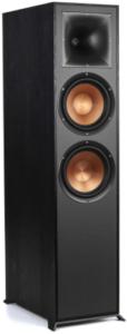 close up image of the Klipsch Reference R-820F Floorstanding Speaker in black