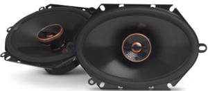 close up view of Infinity Reference 8632CFX Car Speakers - Pair, black