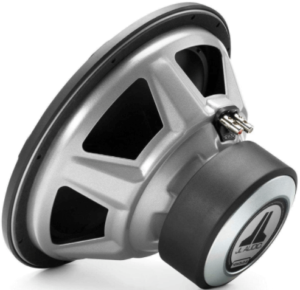This is an image of the JL Audio 12W3v3-4 subwoofer-black