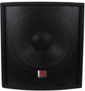 This is an image of the Rockville SBG1158 15-inch powered Subwoofer -black