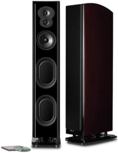 This is an image of a black polk Audio Tower Speaker