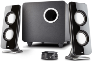image of the Bose Cyber Acoustics Stereo Speaker with Subwoofer for pc gaming, set of 3-black