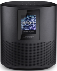 close up view of the Bose Home Speaker 500 smart speaker in black color