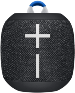 close-up view of the Ultimate Ears WONDERBOOM 2 portable blootooth speaker-black