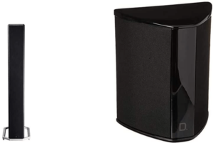 close up view of the Definitive Technology BP-9020 Tower Speaker-black