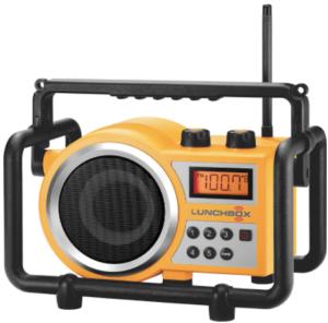 image of the Sangean LB-100 portable radio- Yellow
