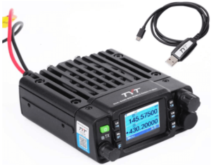 This is an image of the TYT TH-8600mobie Ham Radio- black