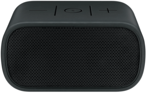 This is an image of a black Logitech UE Mobile Bluetooth Boombox