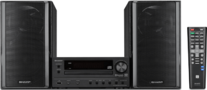 image of the Sharp XL-HF203B stereo music system with remote control-black