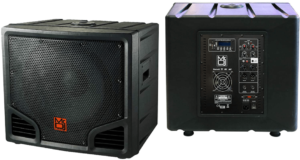 image of the front and back side of the Mr. Dj PRO 18-Inch powered Subwoofer-black