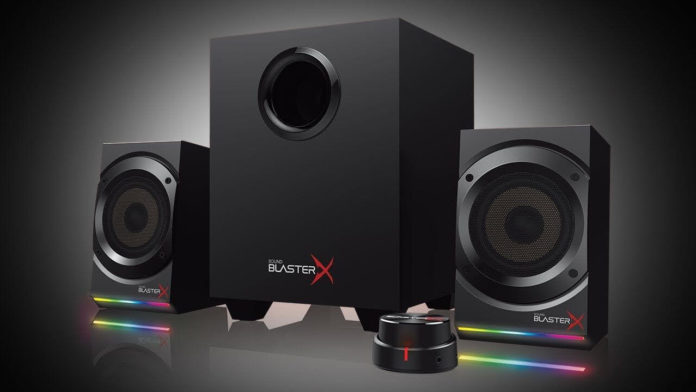 This is an image of gaming speakers
