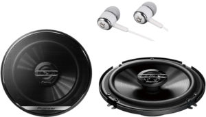 close up image of the Pioneer TS-G1620F Car Audio Stereo 2 Speakers in black color