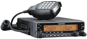 close up image of the Kenwood Original TM-V71A dual mobile ham radio in black color