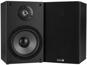 This is an image of the Dayton Audio B652 Speakers- pair in black color