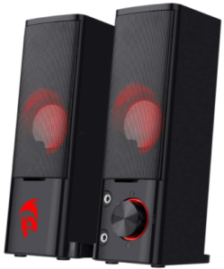 image of the Redragon GS550 Orpheus PC Gaming Speakers in black color-pair