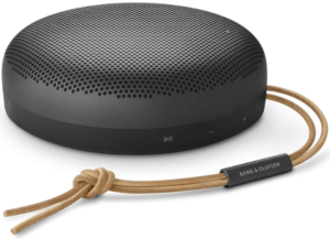This is an image of the Bang and Olufsen Beosound A1 2nd Gen bluetooth portable speaker -black
