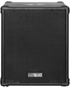 This is an image of the Earthquake Sound 12-inch powered Subwoofer in black color