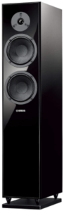 This is an image of a black Yamaha NS-F150 Floorstanding Speaker