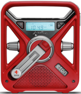 This is an image of American Red Cross Emergency survival Radio with USB Smartphone, Charger, LED Flashlight & Red Beacon by the Eton