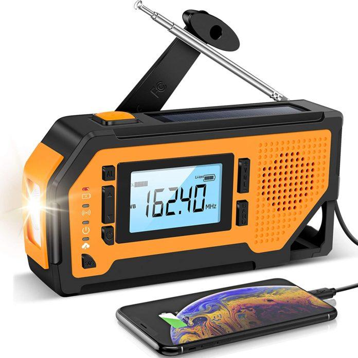 Emergency Solar Hand survival Crank Radio