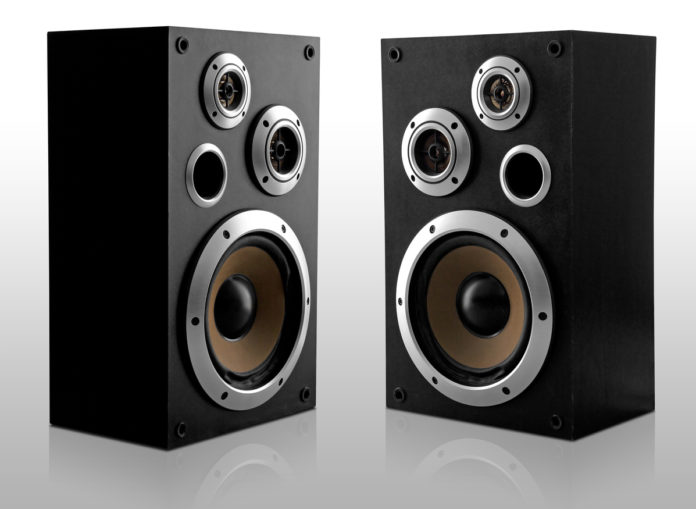 This is an image of 2 black subwoofer
